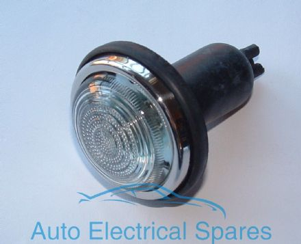 Lucas type L488 side & indicator lamp / light CLEAR GLASS COMPLETE